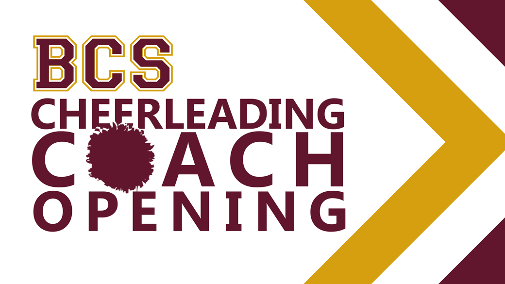 BCS Cheerleading Coach Opening