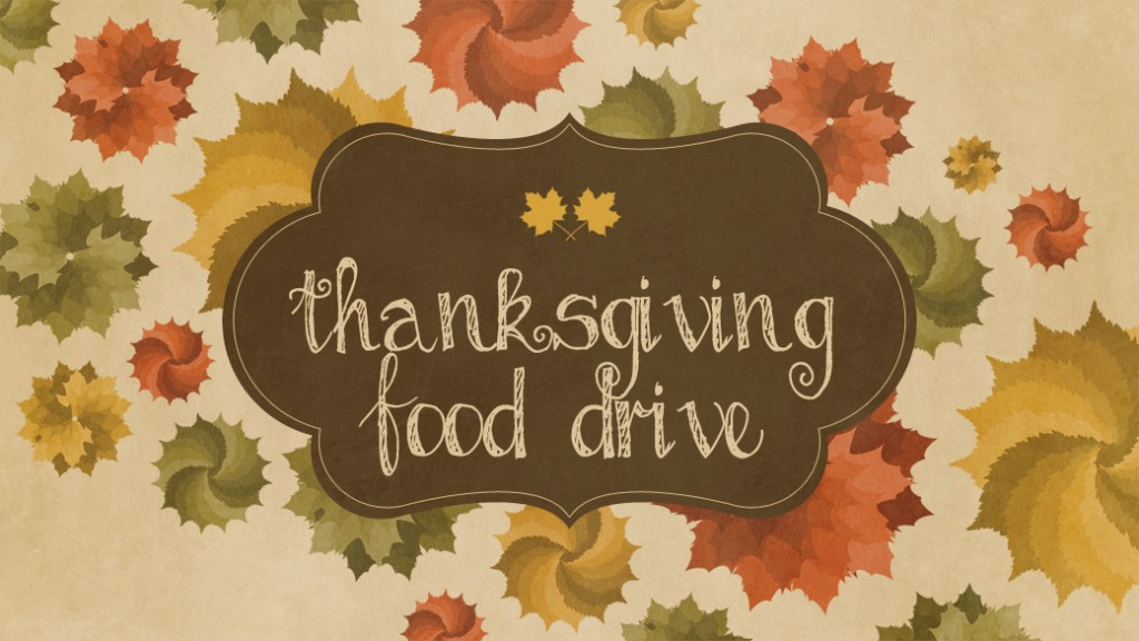 14 Thanksgiving Food Drive