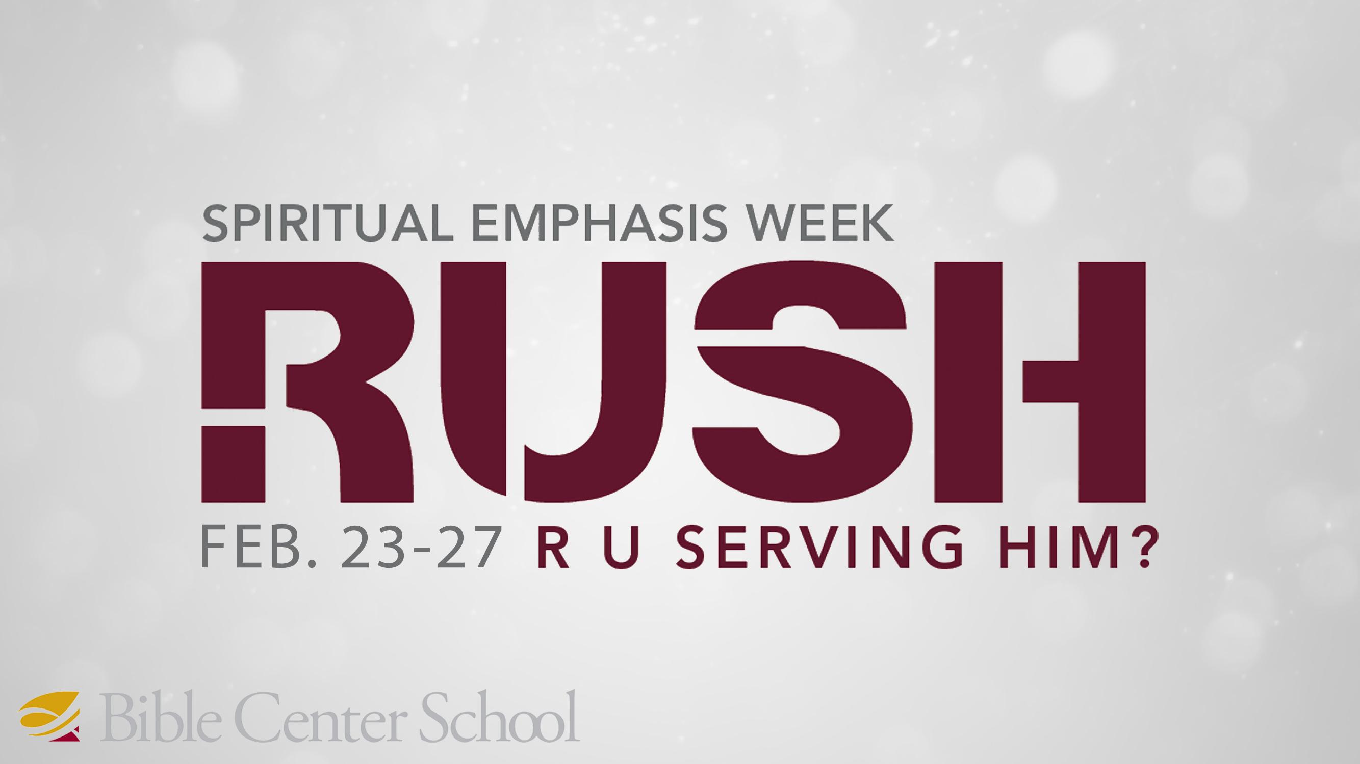 Spiritual Emphasis Week