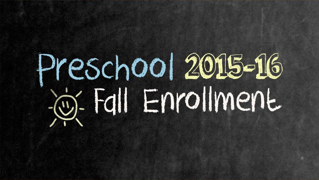 Preschool Enrolling Now