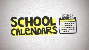 16-17 School Calendars