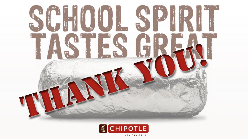 Chipotle Fundraiser Update
