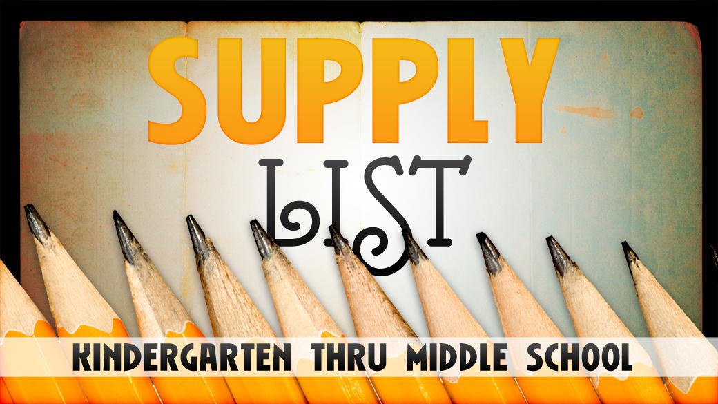2017-18 Supply Lists
