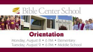 16 BCS Orientation (K-8)