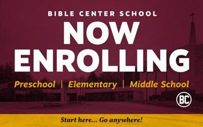 Bible Center School | Enrolling Now!